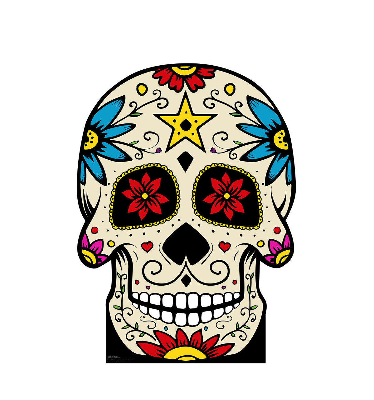 Life-size Day of the Dead Skull Cardboard Standup 3
