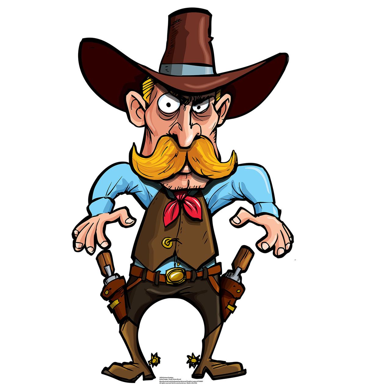Life-size Cartoon Cowboy Cardboard Standup