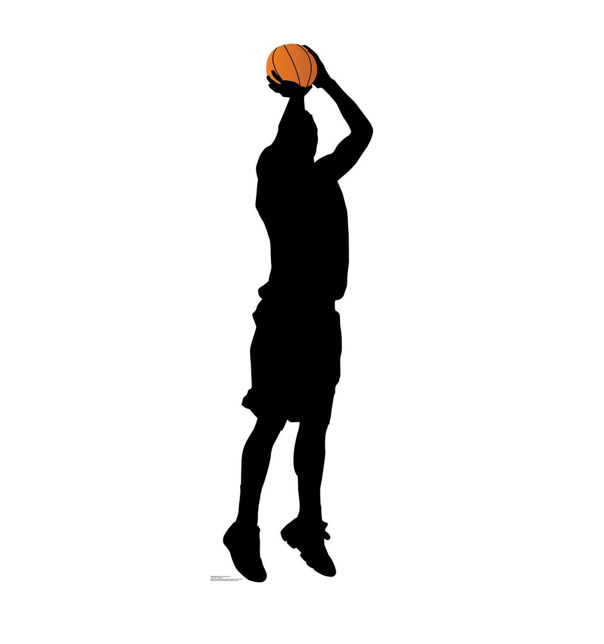 Life-size Basketball Player Shooting Silhouette Cardboard Standup 3