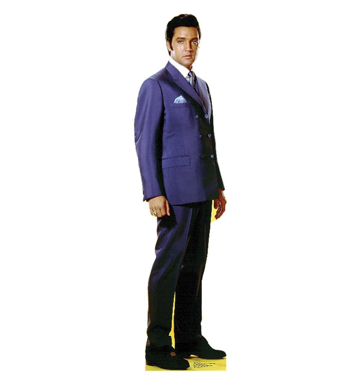 Elvis Blue Jacket - Talking - Cardboard Cutout 842T