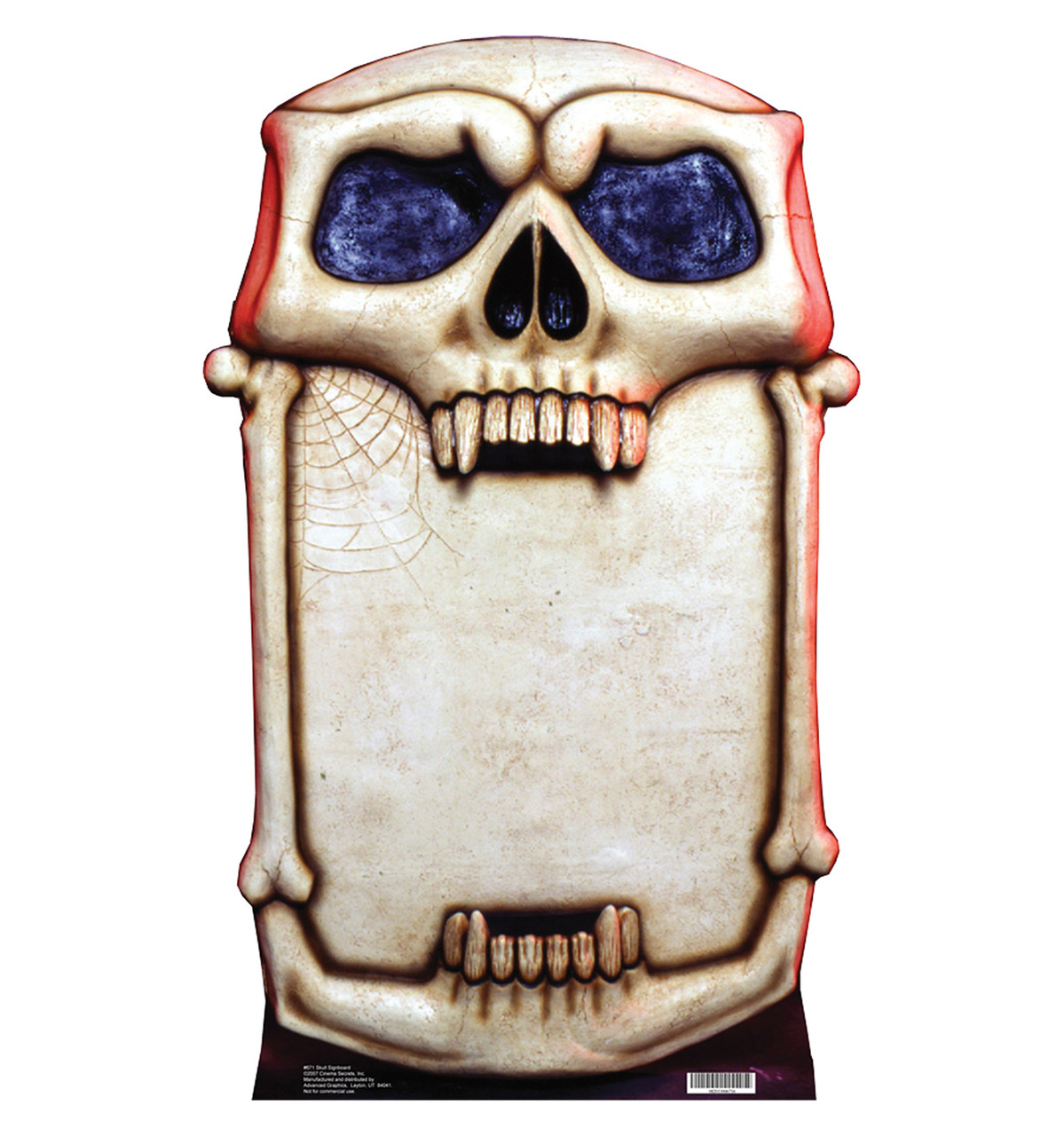 Life-size Skull Signboard Cardboard Standup