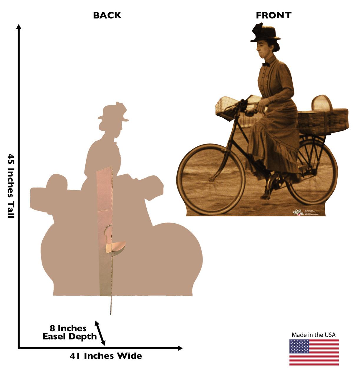 Life-size Miss Gulch on Bike - Wizard of Oz Cardboard Standup