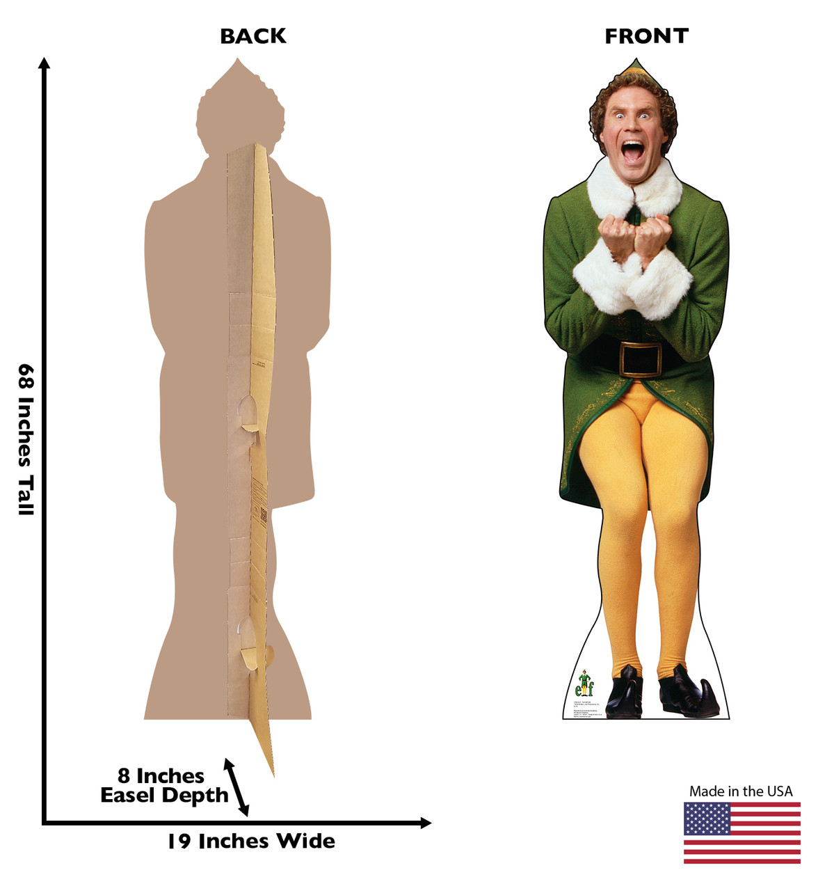 Excited Buddy - Elf - Cardboard Cutout