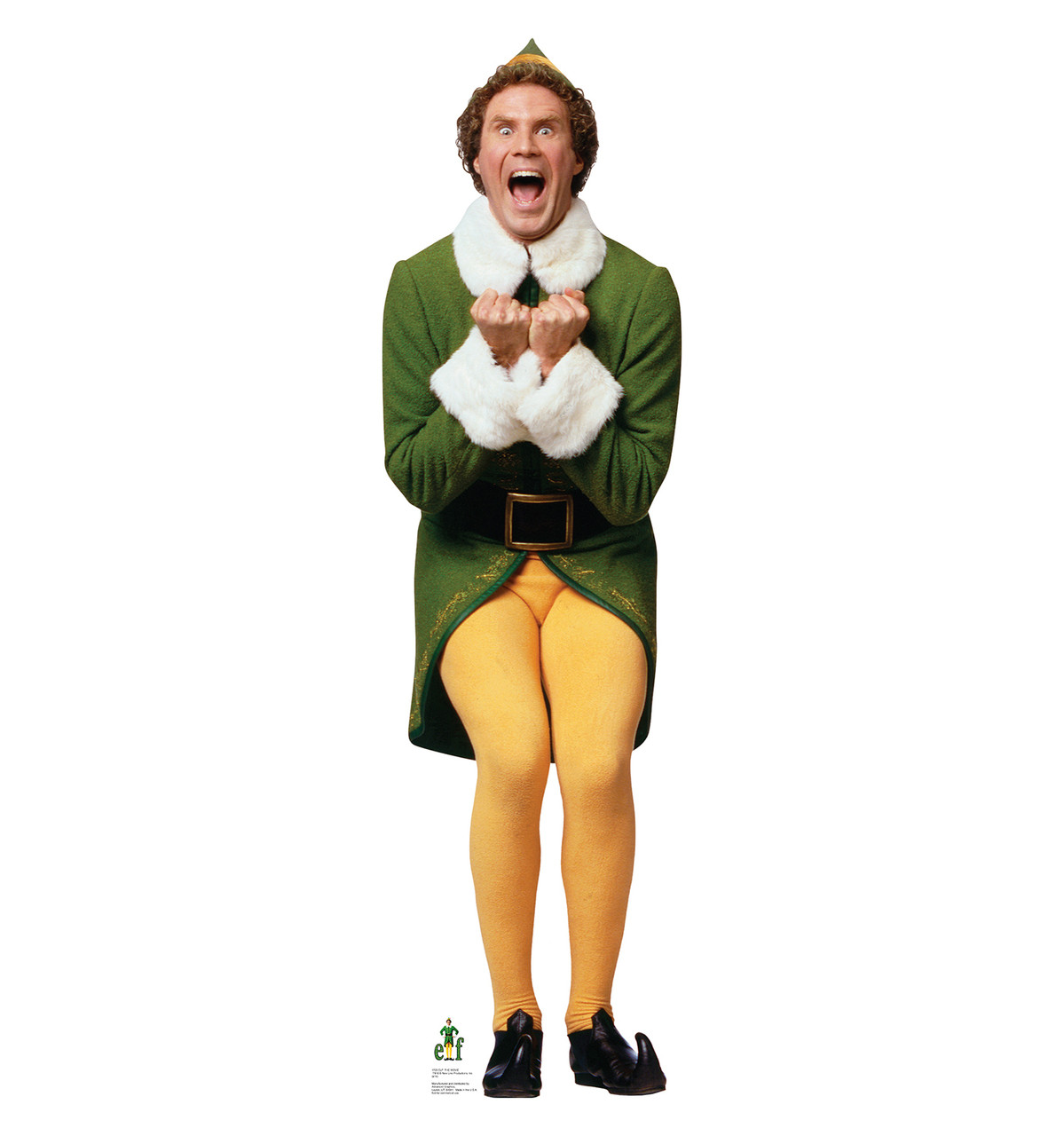 Life-size Excited Buddy - Elf Cardboard Cutout Will Ferrell