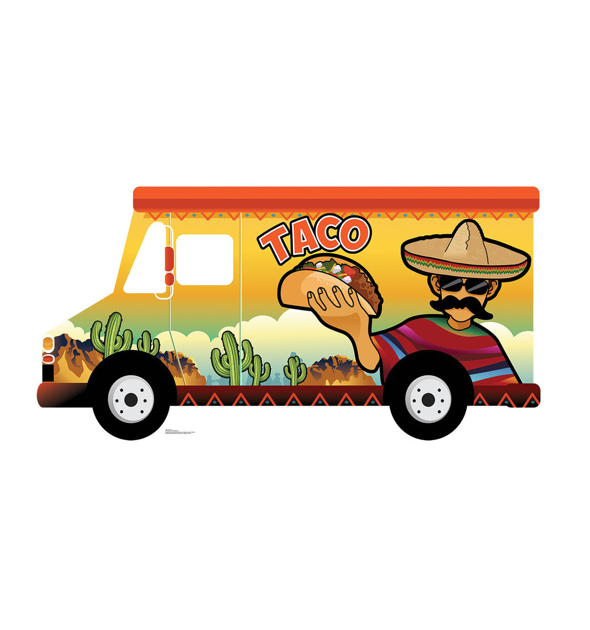 Life-size Taco Truck Standin Cardboard Standup 3