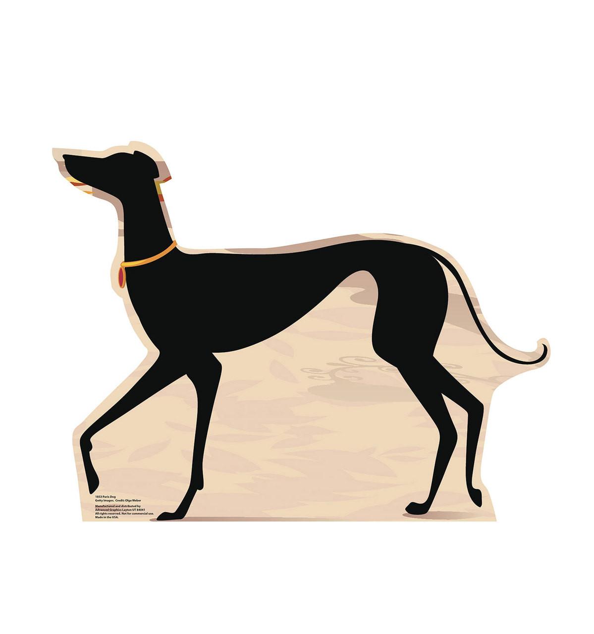 Life-size Paris Dog Cardboard Standup