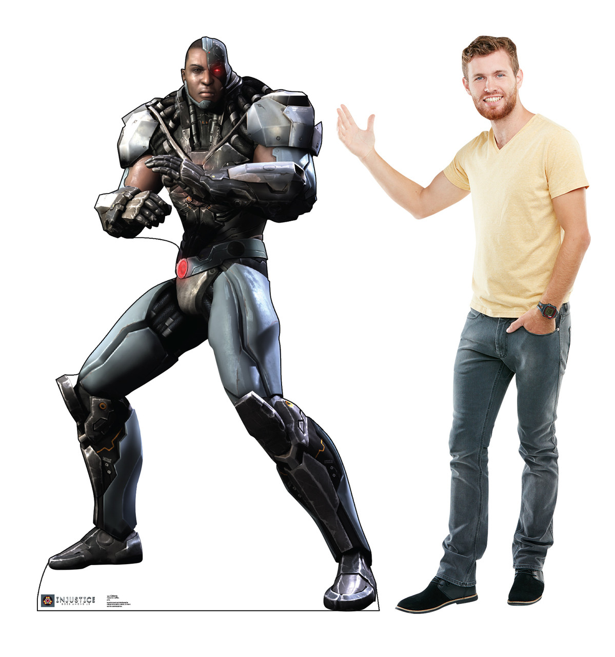 Life-size Cyborg - Injustice Gods Among Us Cardboard Standup | Cardboard Cutout