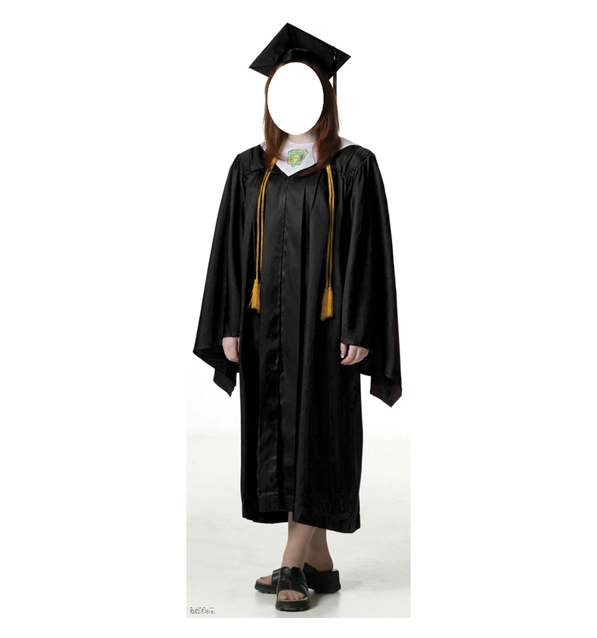 Female Graduate Black Cap and Gown - Stand-in 902