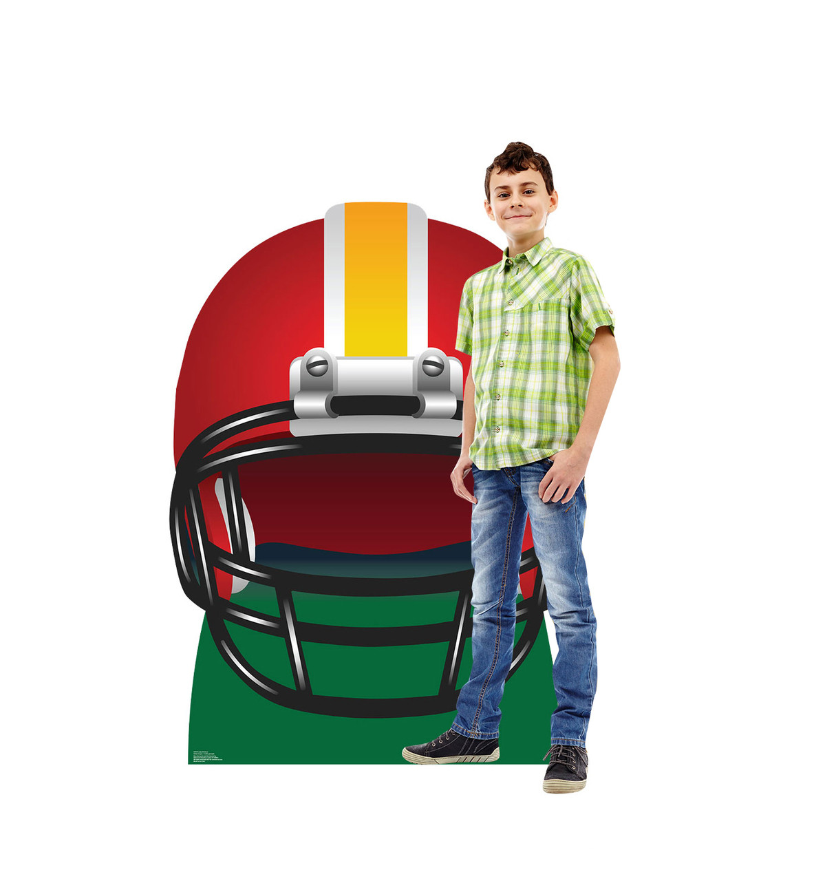 Life-size Football Helmet Cardboard Standup 2