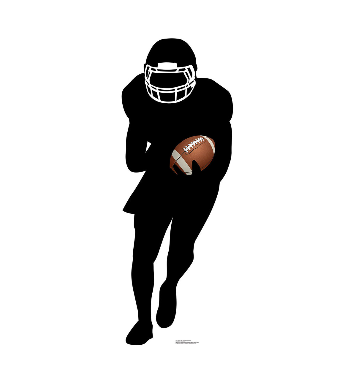 Life-size Football Player Running Back Silhouette Cardboard Standup 3