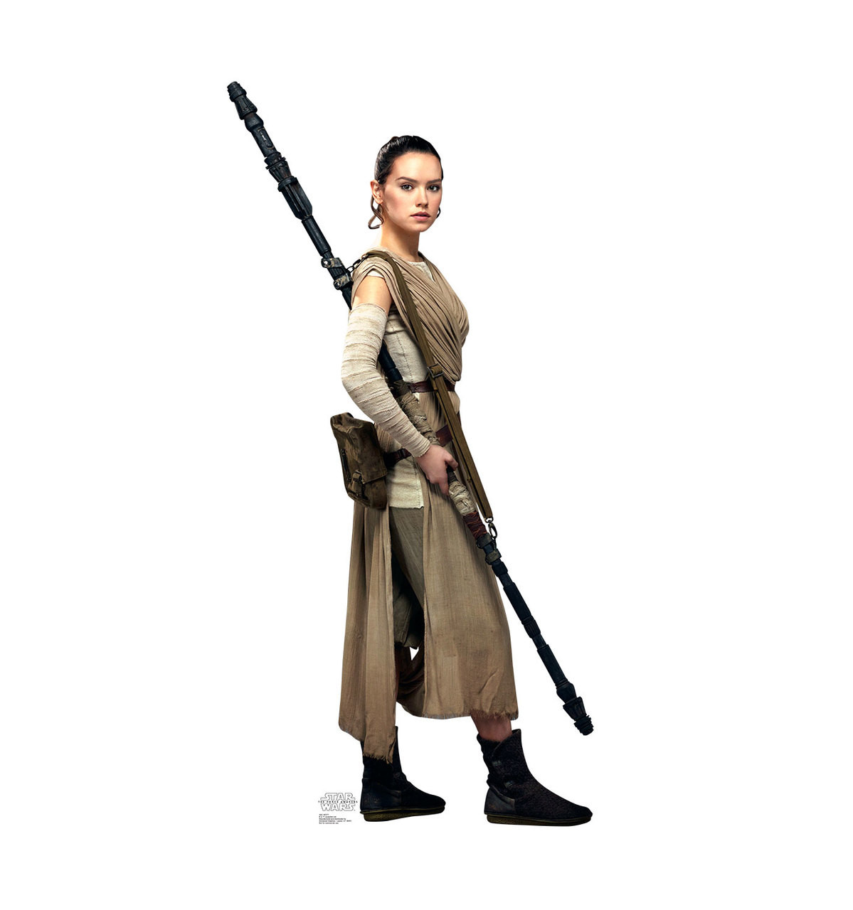 Life-size Rey - Star Wars: The Force Awakens Cardboard Standup