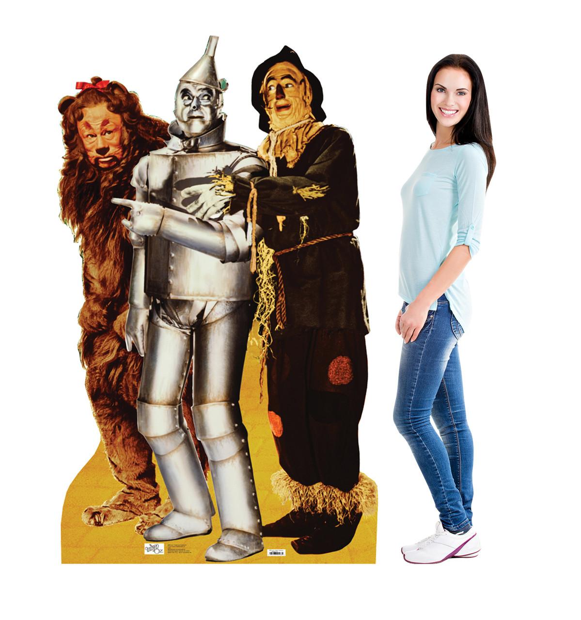 Life-size Lion, Tin Man, and Scarecrow Cardboard Standup