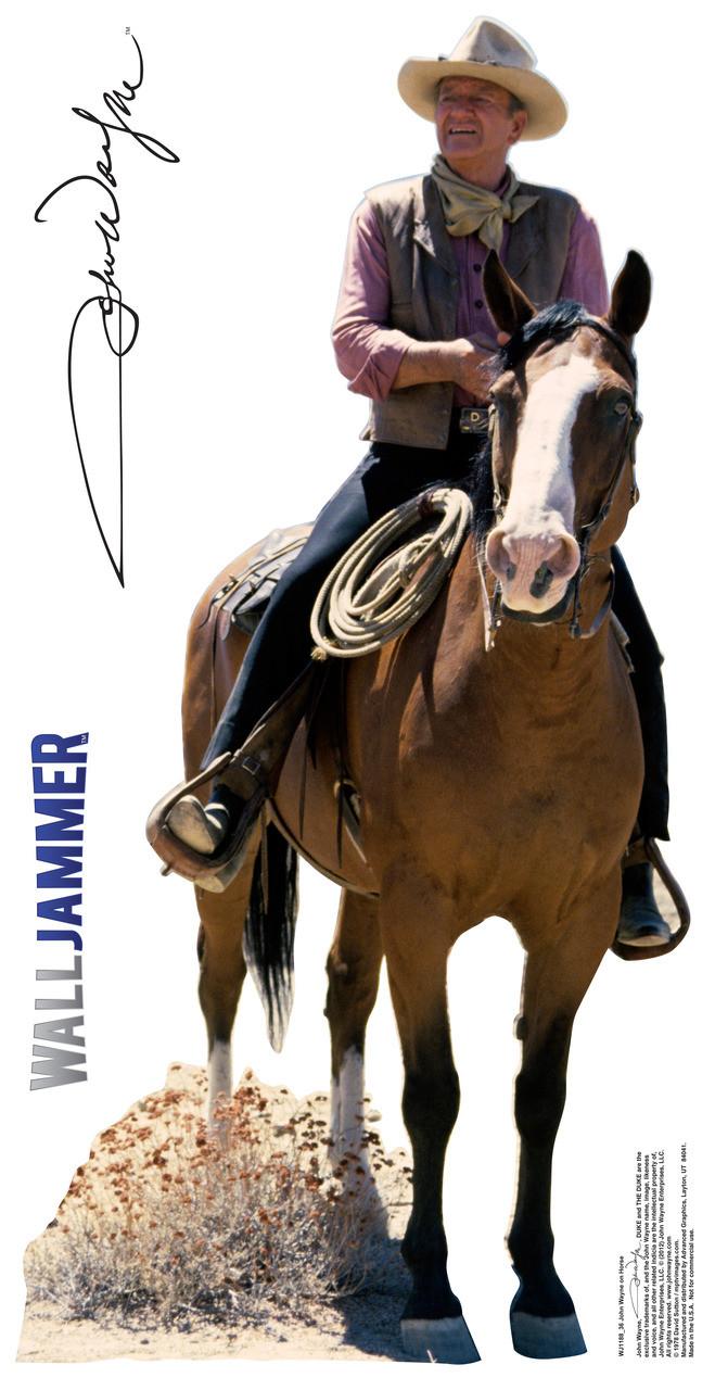 John Wayne on Horse - WallJammer WJ1188