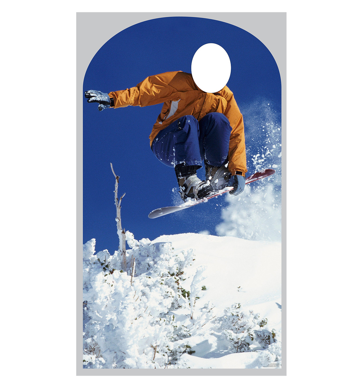 Life-size Snowboarding Standin Cardboard Standup