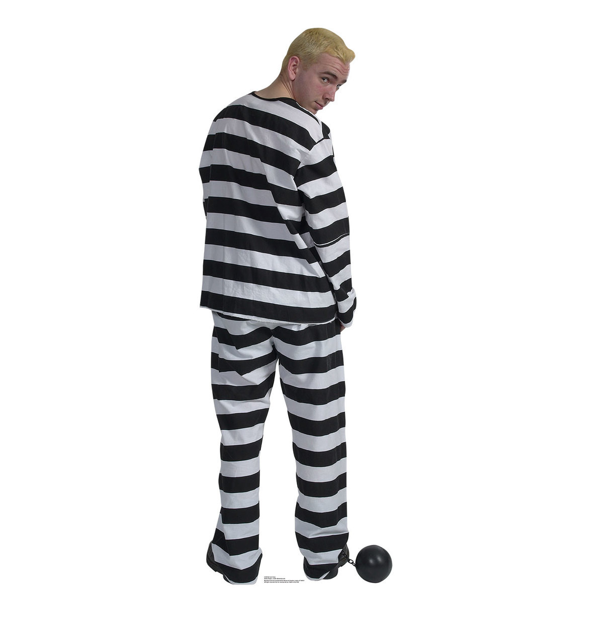 Life-size Prisoner in Striped Suit with Ball and Chain Cardboard Standup 3