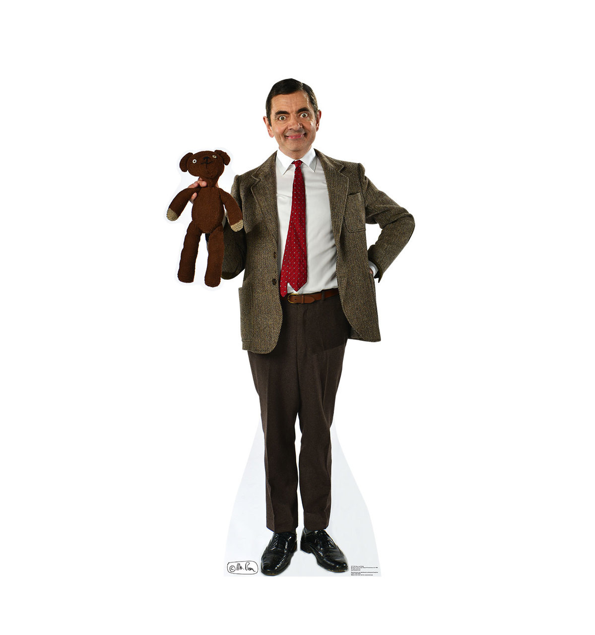 Life-size Mr. Bean and Teddy Cardboard Standup