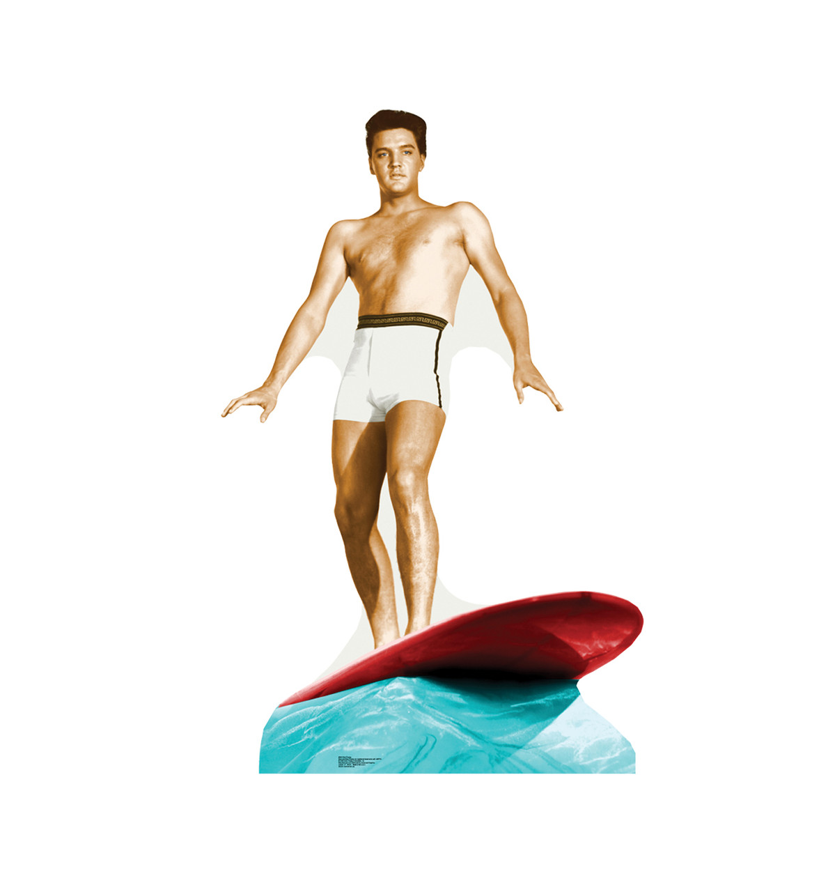 Elvis Presley Surfing - Talking - Cardboard Cutout 846T