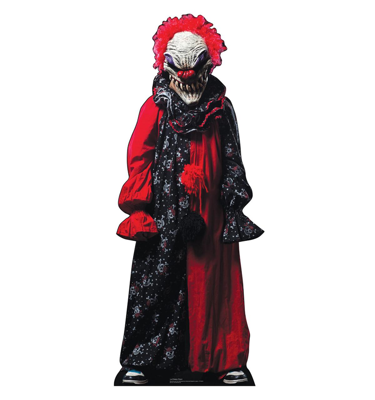 Life-size Creepy Clown Cardboard Standup