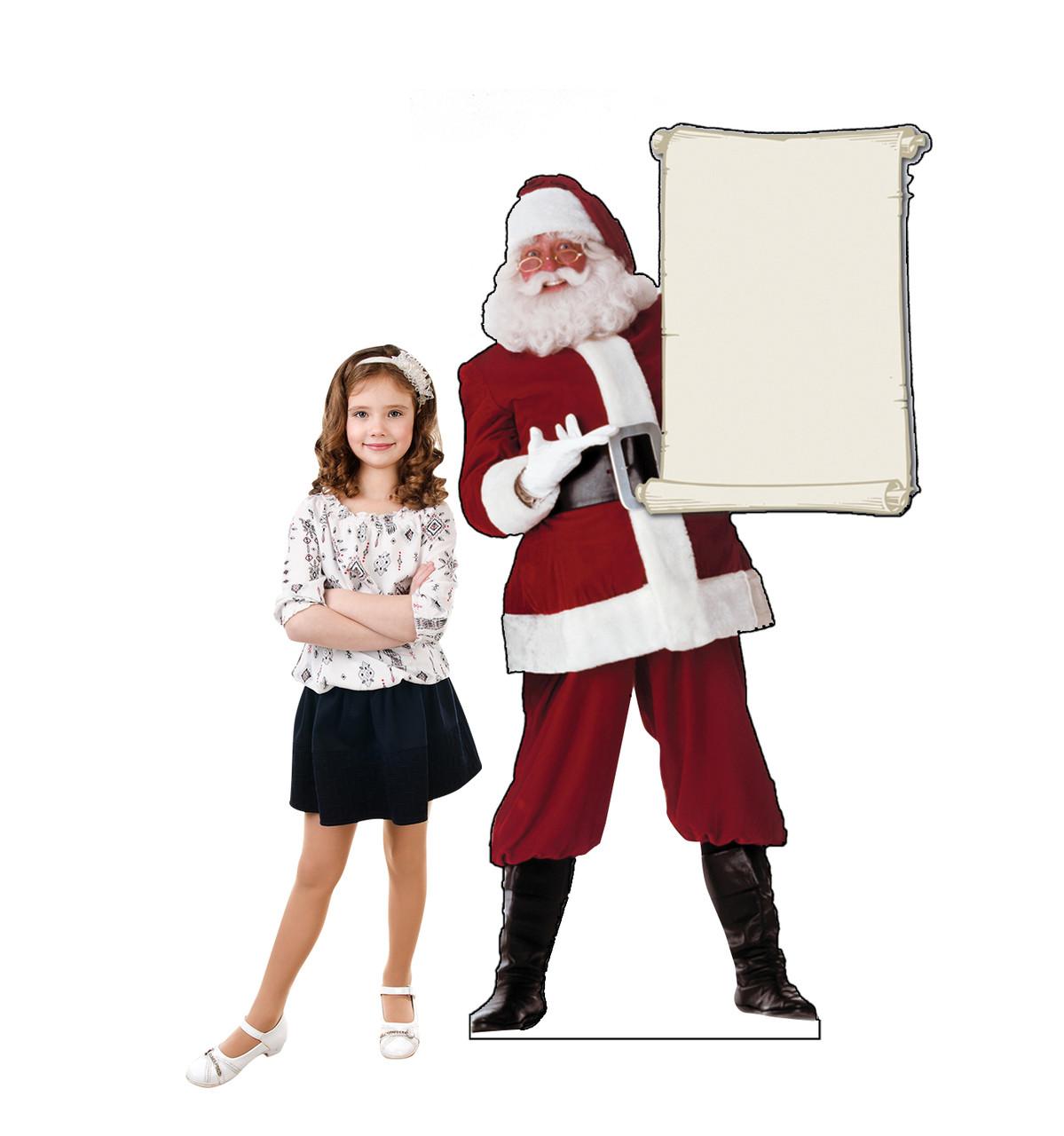 Santa Claus with Scroll - Cardboard Cutout 433