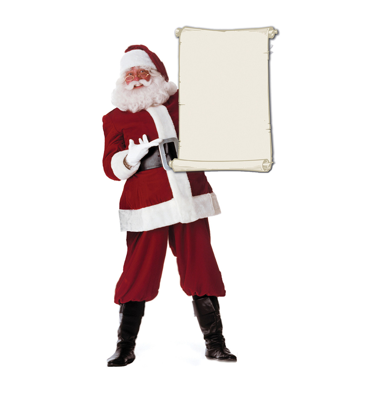 Life-size Santa Claus with Scroll Cardboard Standup