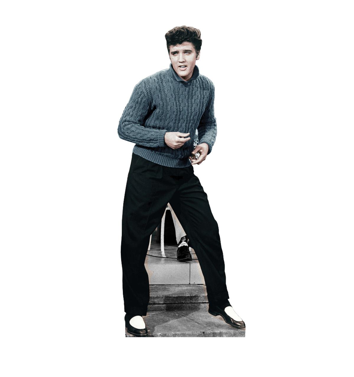 Elvis Blue Sweater Cardboard Cutout 844