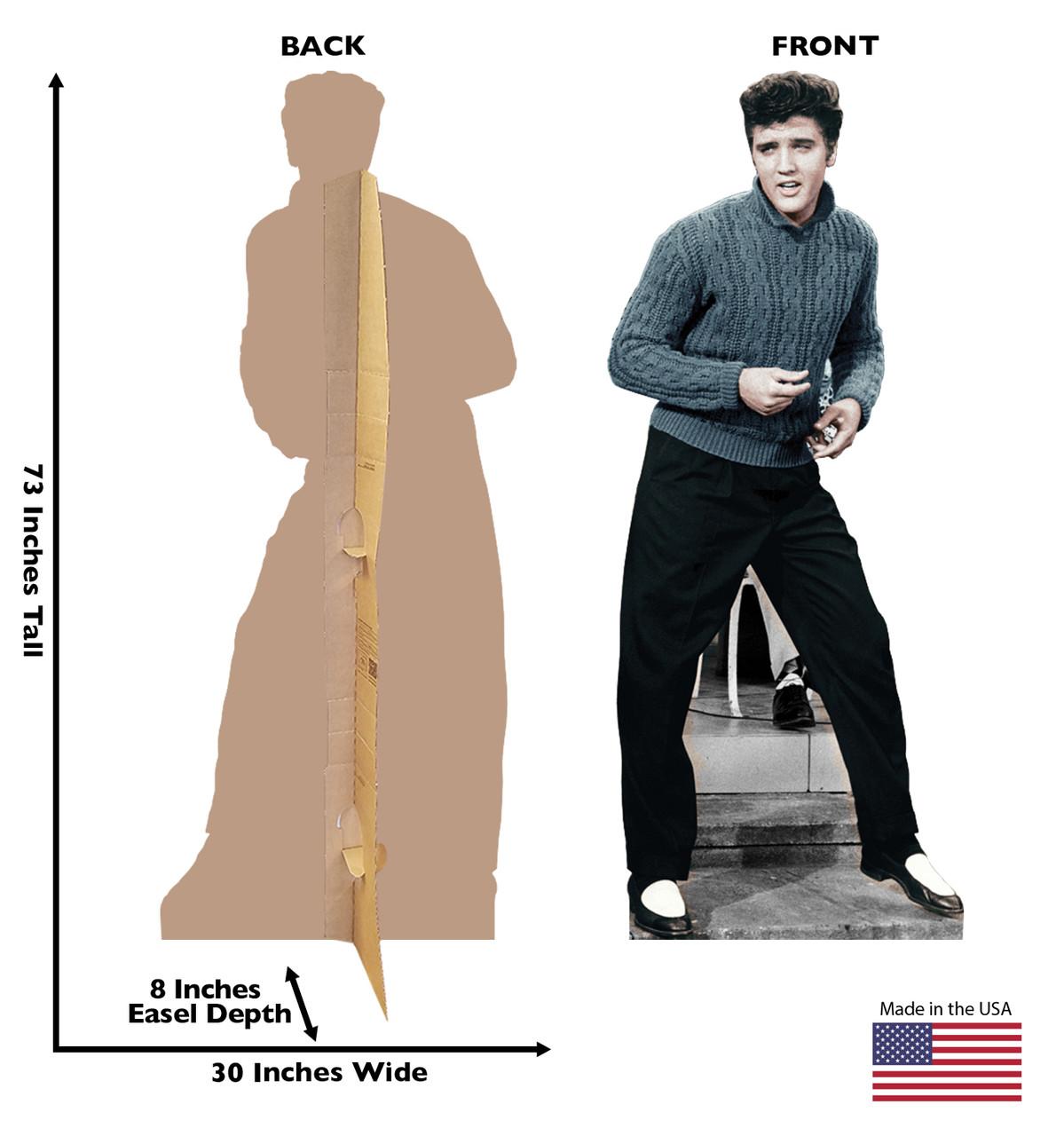 Elvis Blue Sweater Cardboard Cutout 844 dimensions