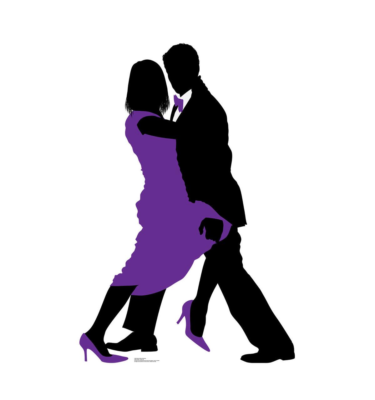 Life-size Ballroom Dancers Silhouette Cardboard Standup 3