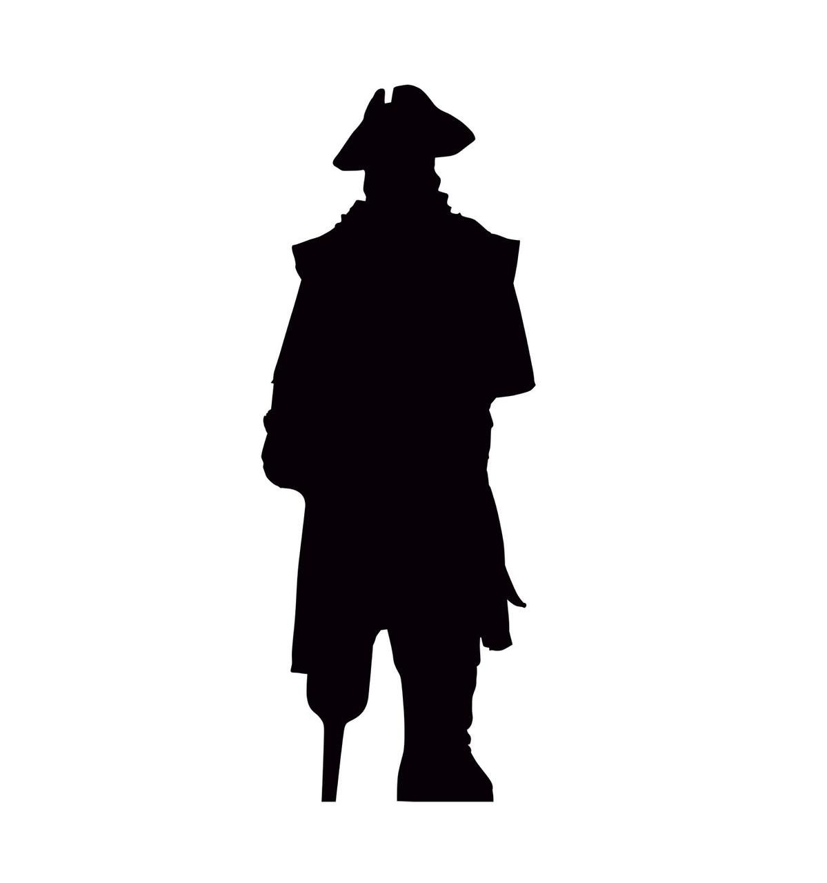 Pirate silhouette cardboard cutout