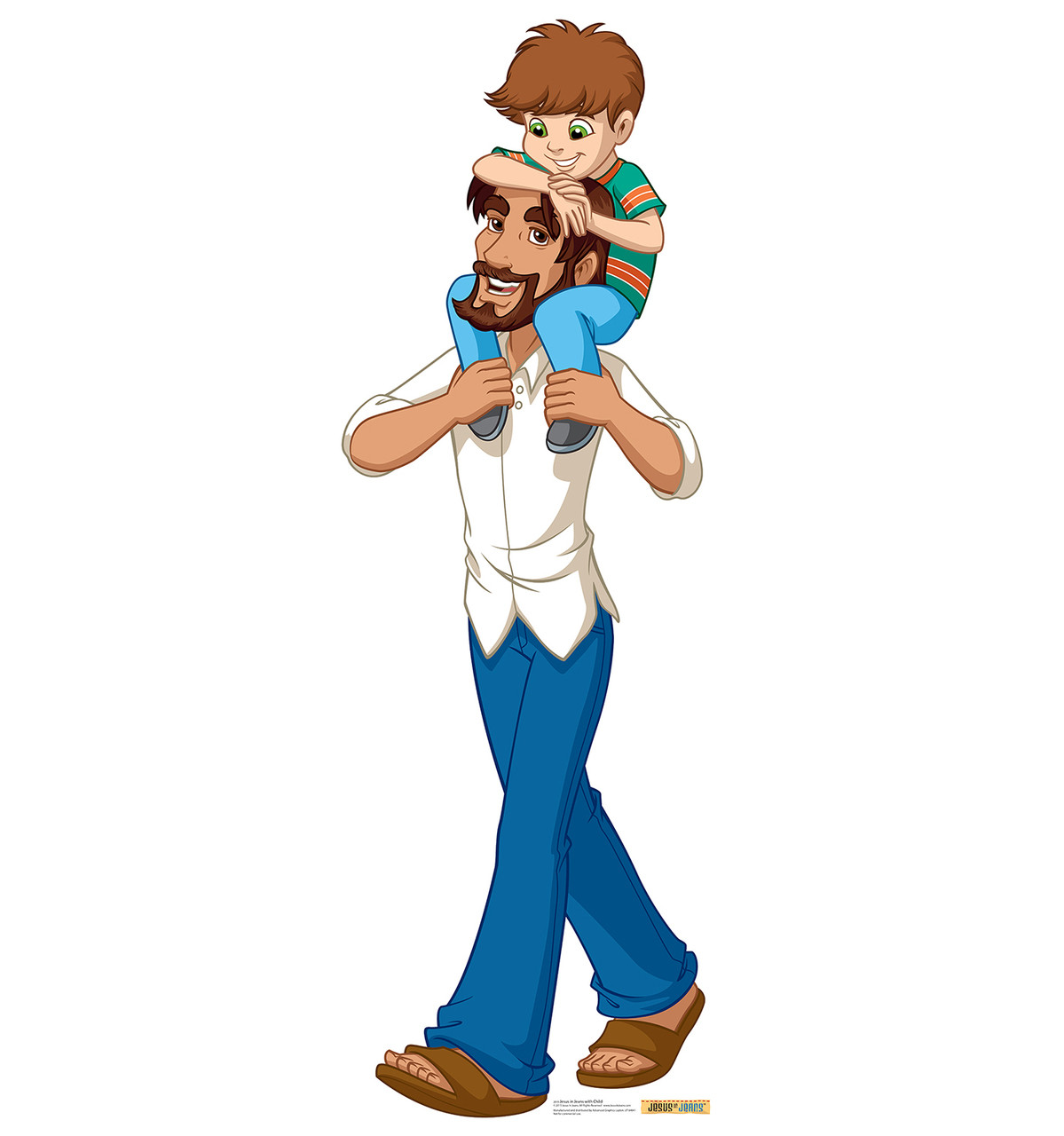 Jesus in Jeans with Child - Cardboard Cutout 2019