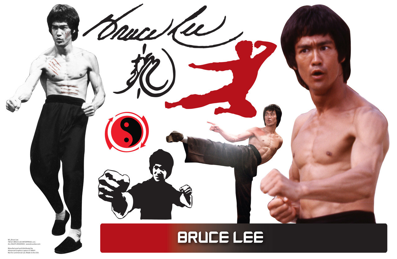 Life-size Bruce Lee WallJammer Wall Decal