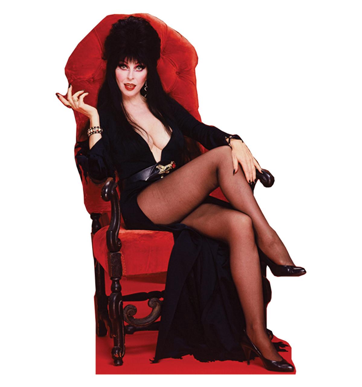 Life-size Elvira Chair - Talking Cardboard Standup |Cardboard Cutout