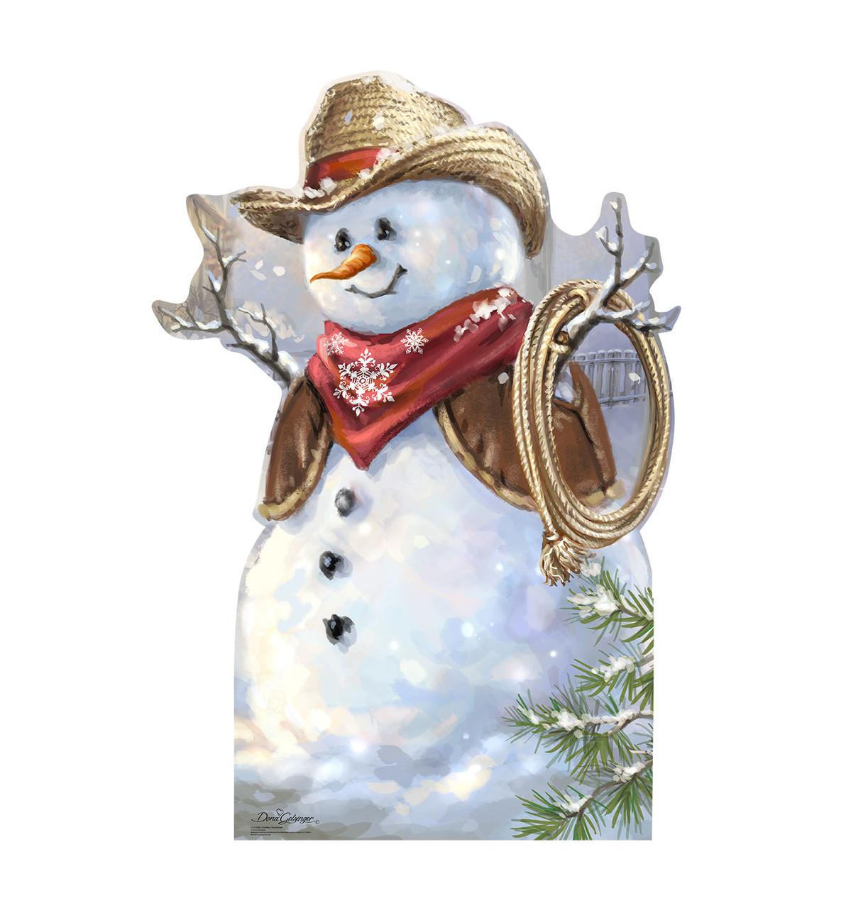Cowboy Snowman Cardboard Cutout 2112