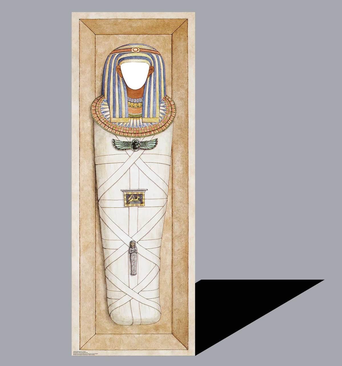 Life-size Mummified Pharaoh Standin Cardboard Standup