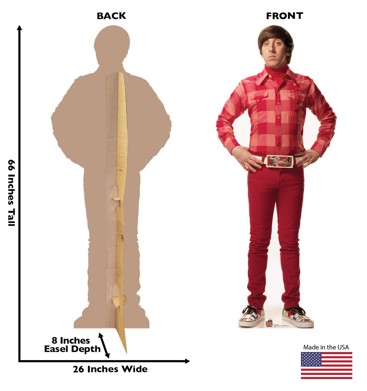 Howard from The Big Bang Theory cardboard cutout