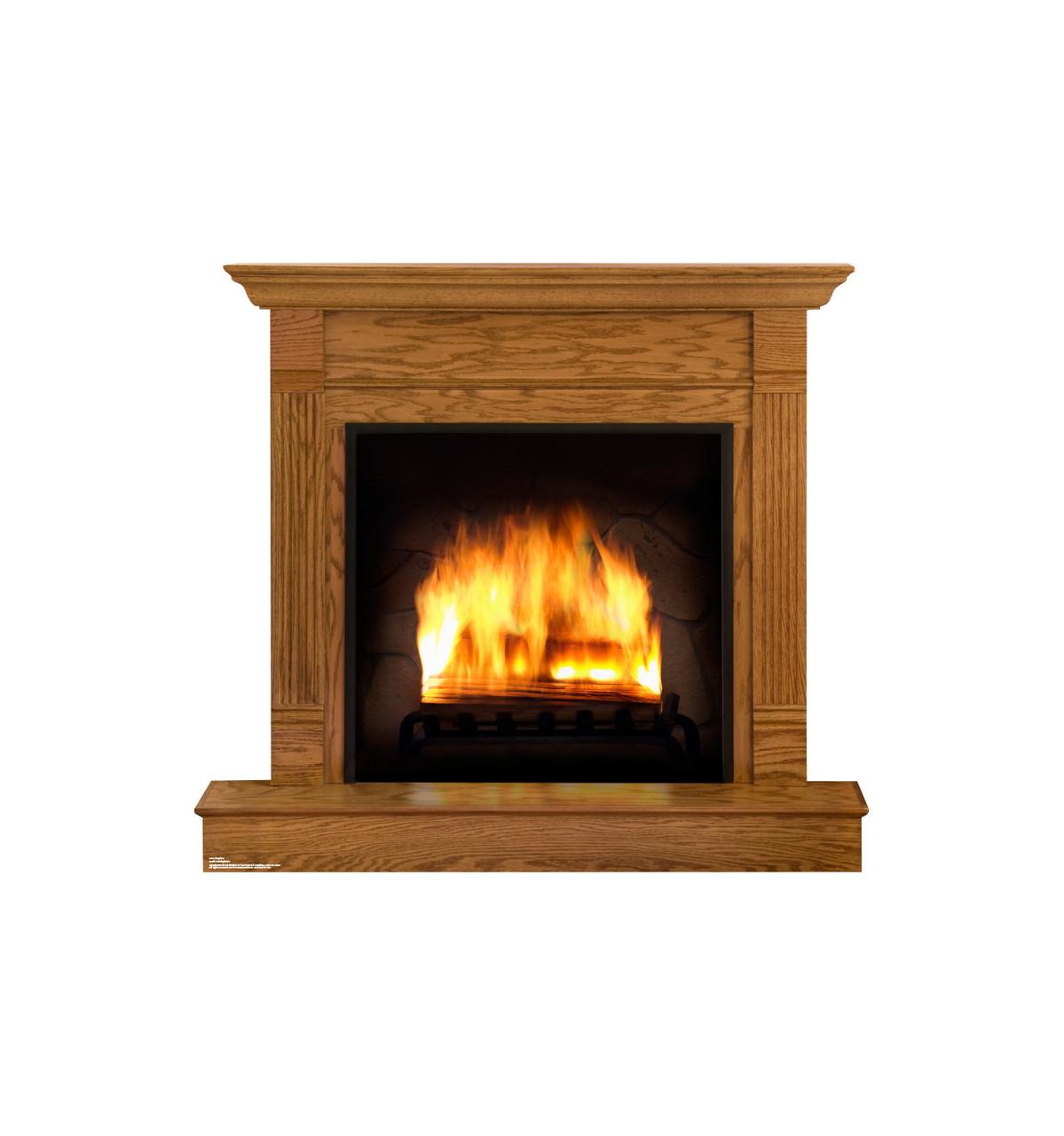 Fireplace Cardboard Cutout 2070