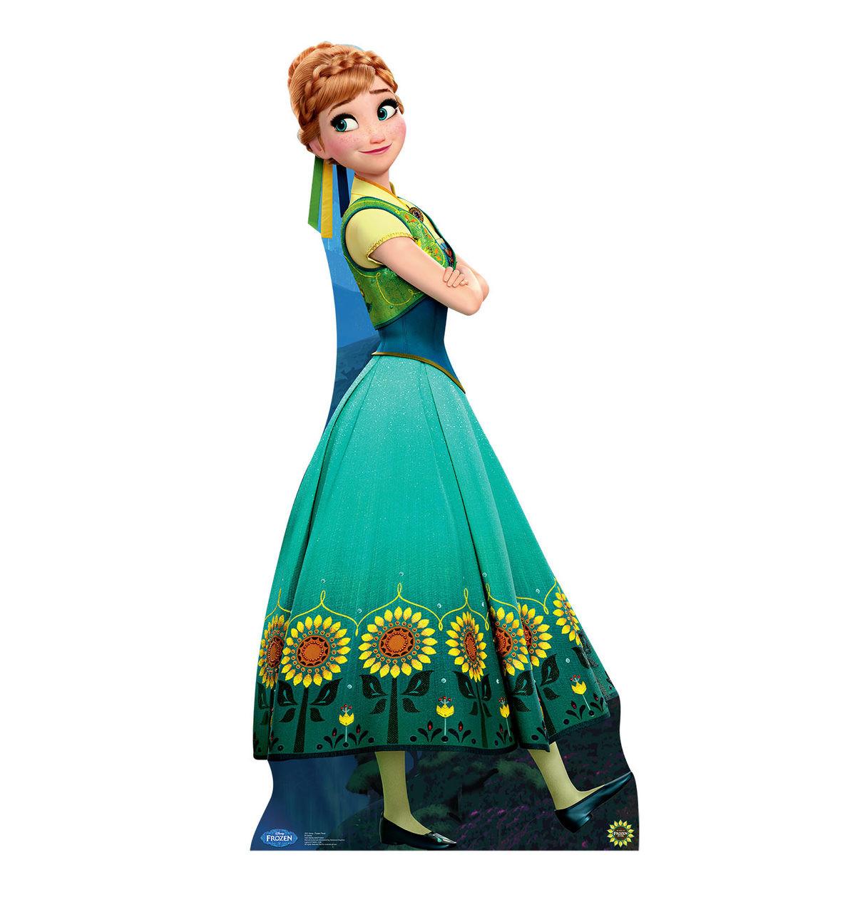 Anna - Frozen Fever - Cardboard Cutout Front View