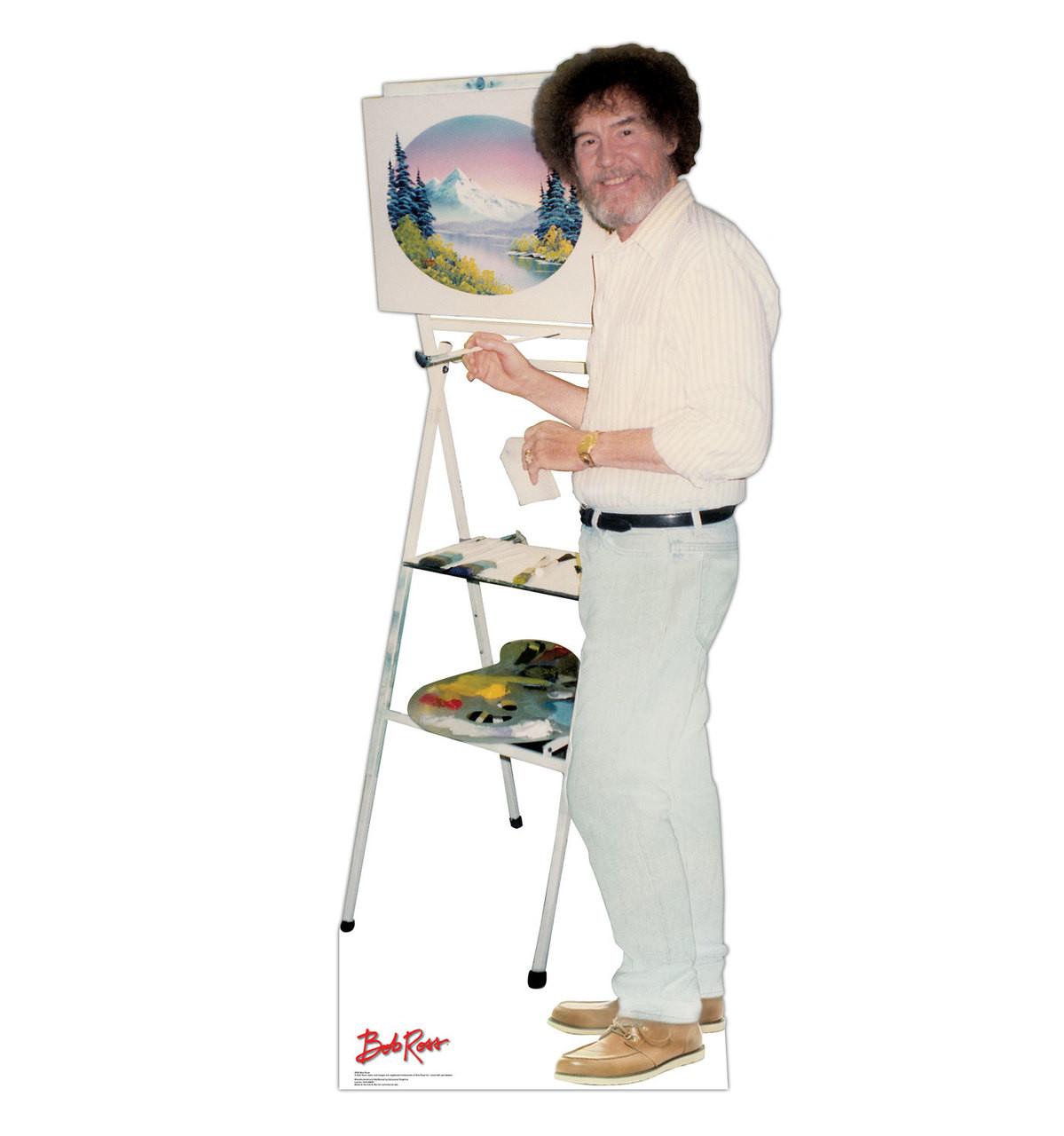Life-size Bob Ross Cardboard Standup  Cardboard Cutout