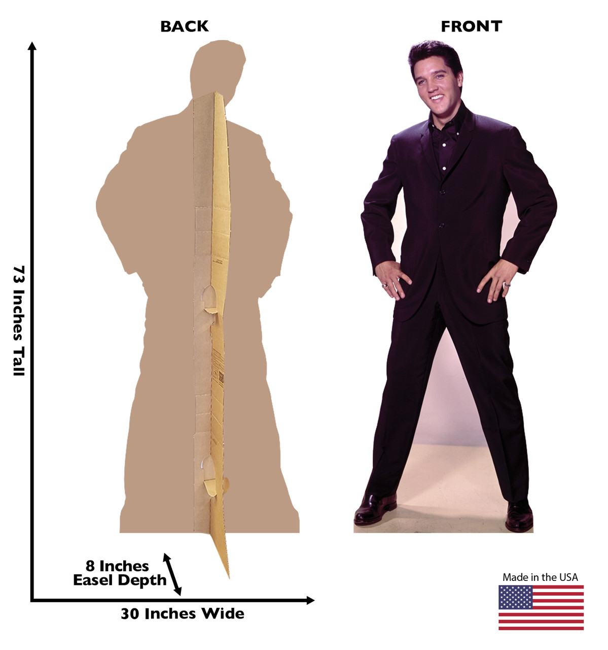 Elvis Presley Hands on Hips - Talking Cardboard Cutout 843T