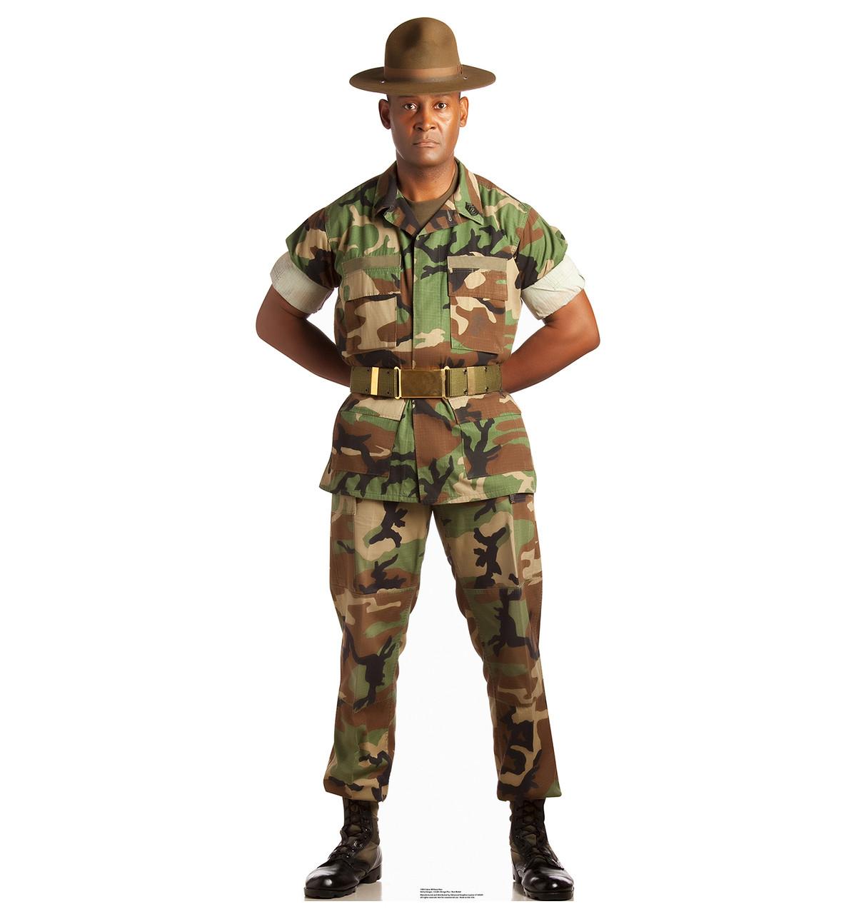 Life-size Camo Military Man Cardboard Standup |Cardboard Cutout