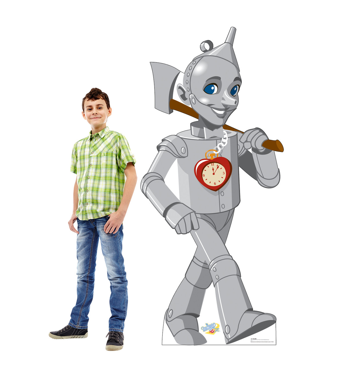Life-size cardboards standee with model.