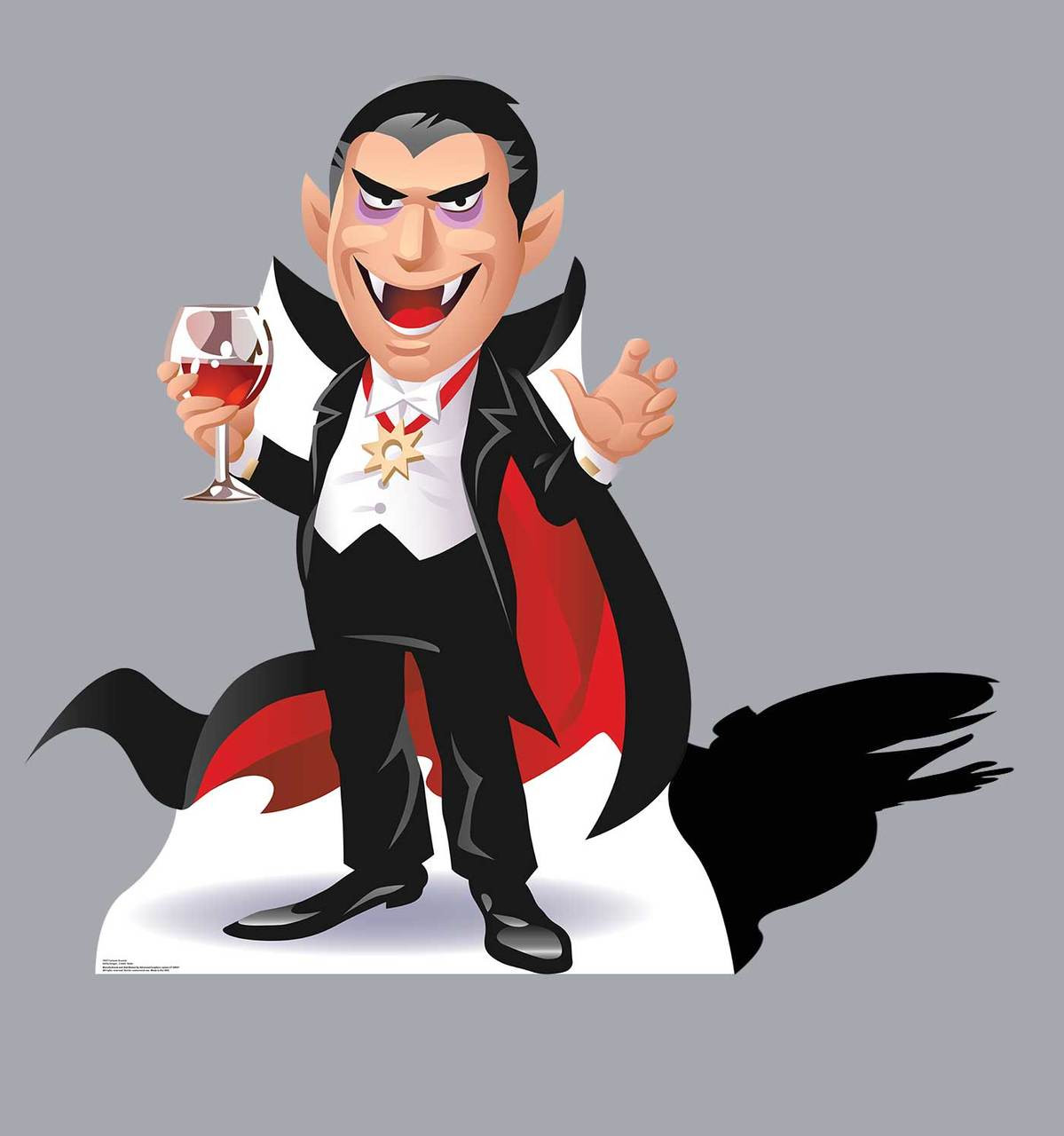 Life-size Cartoon Dracula Cardboard Standup