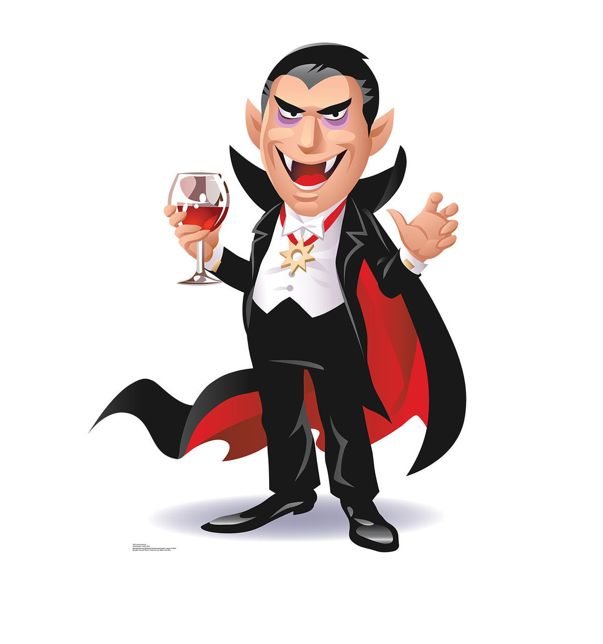 Life-size Cartoon Dracula Cardboard Standup 2