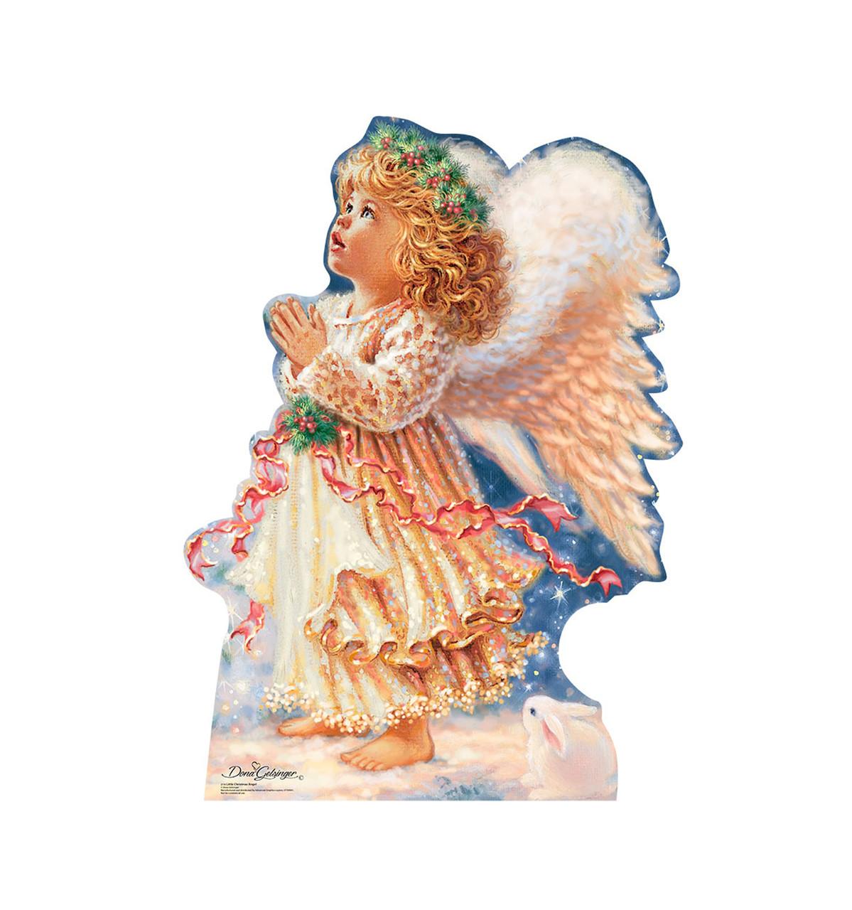 Life-size Little Christmas Angel - Dona Gelsinger Cardboard Standup