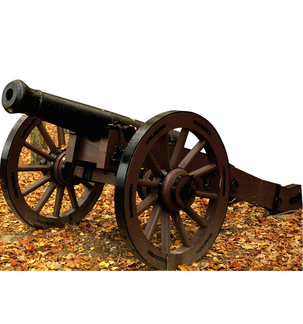 Life-size Civil War Cannon Cardboard Standup 3