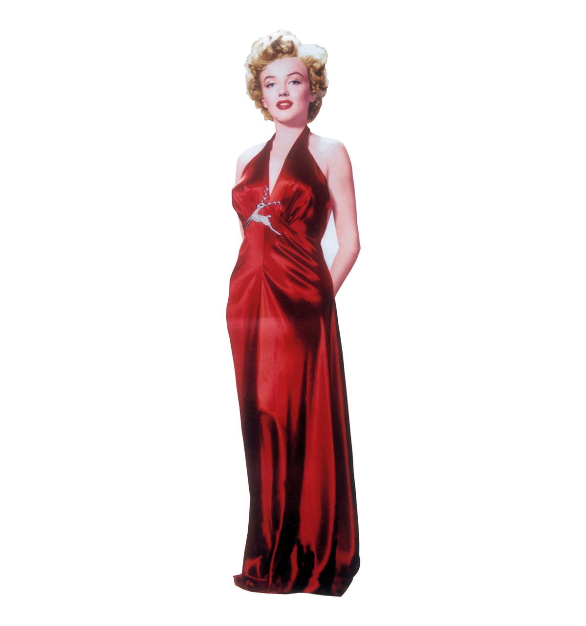 Marilyn Monroe-Red Gown-Cardboard Cutout 316