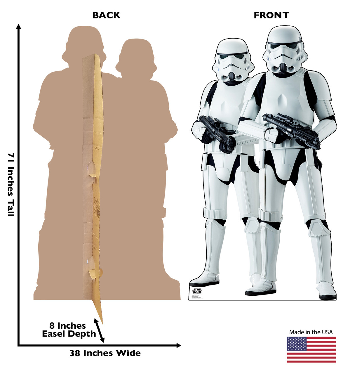 Two Stormtroopers - Rogue One Cardboard Cutout 2257
