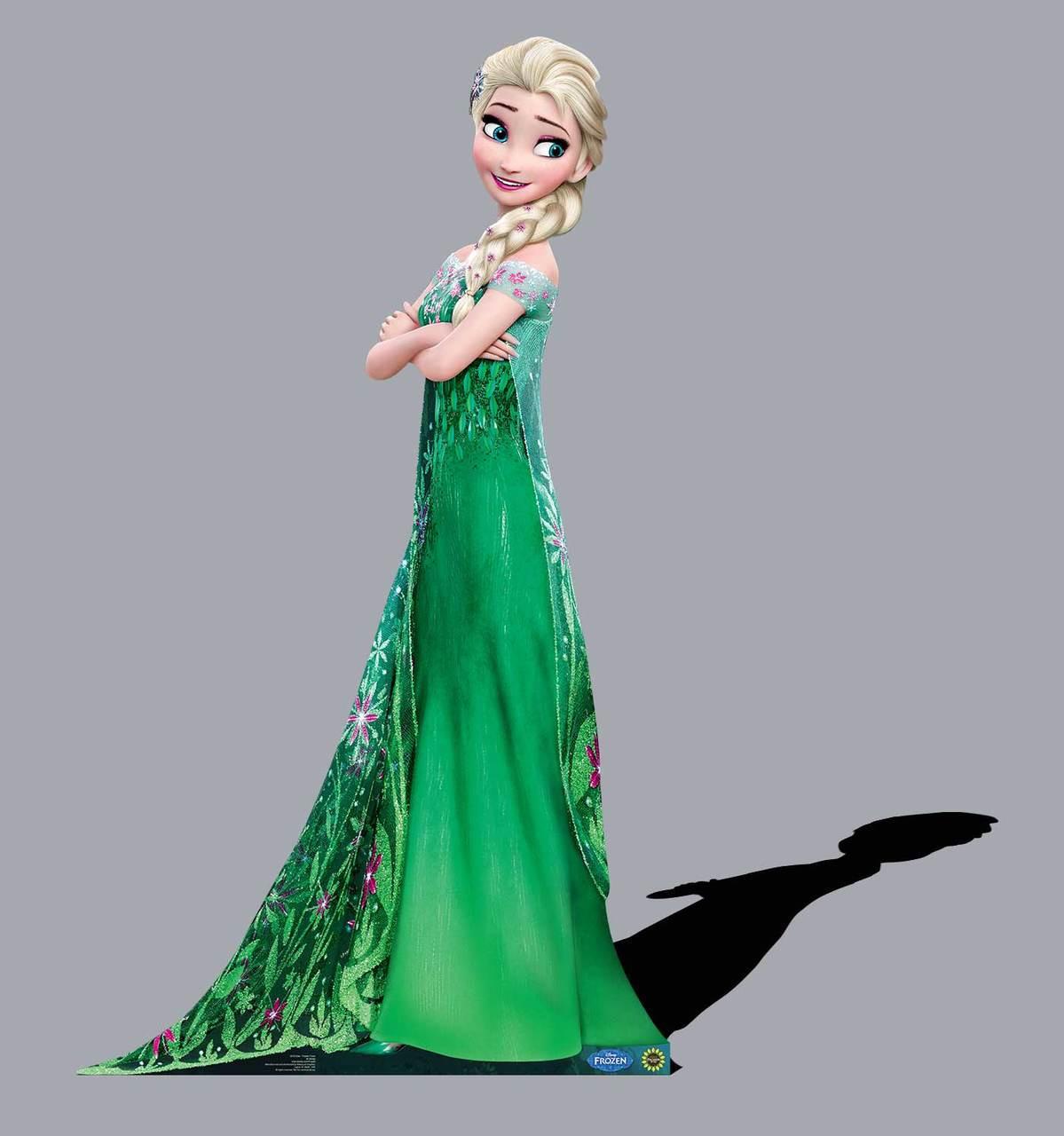 Life-size Elsa - Frozen Fever Cardboard Standup