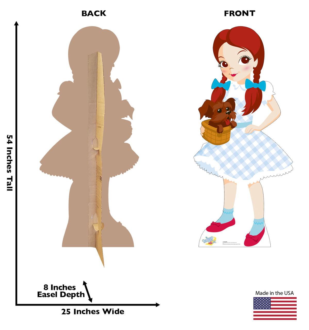 Dorothy and Toto - Wizard of Oz Kids-Cardboard Cutout 1074