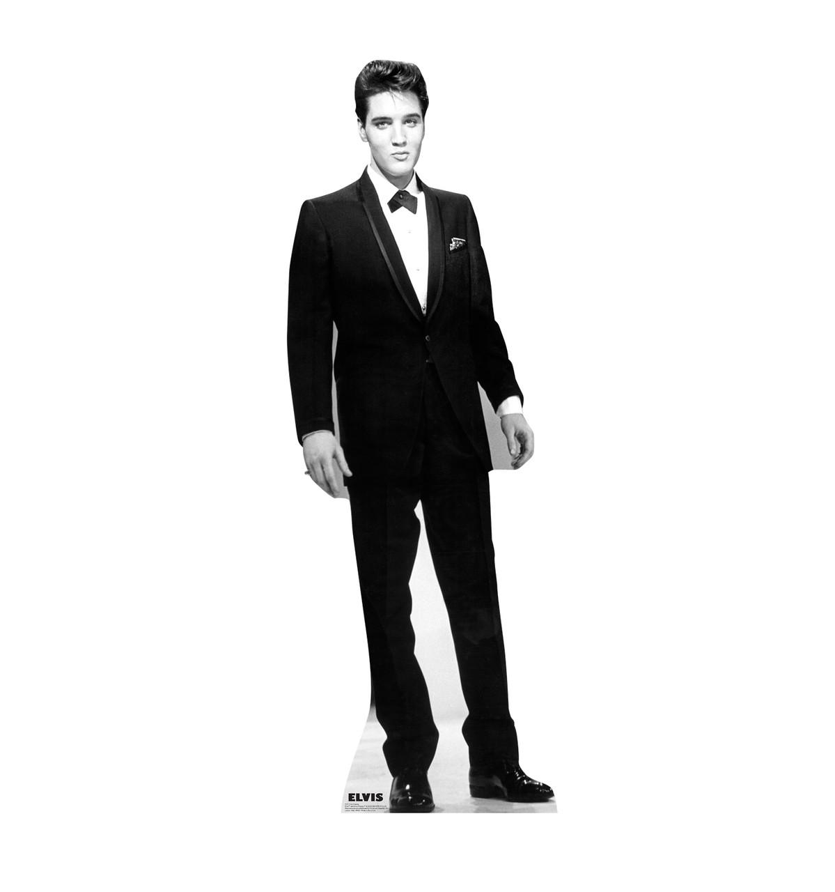 Elvis Black Tuxedo - Talking Cardboard Cutout 377T