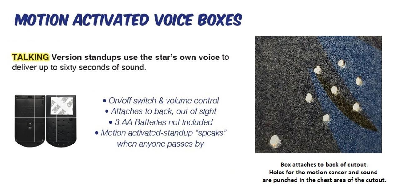 Elvis Black Tuxedo - Talking Cardboard Cutout 377T voice box